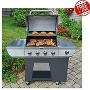 4-burner Bbq Cuisinart Deluxe Propane Gas Grill With 3 In 1 Side Burner Outdoor