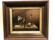 1860 Tight Old Master Academic European Table Top Still Life With Dead Game