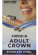 Dental Stainless Steel Permanent Molar Adult Crown Kit Of 48 Pcs