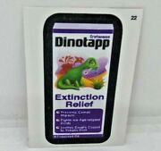 Rare 2013 Topps Wacky Packages Cloth Card Dinotapp Extinction Relief 22