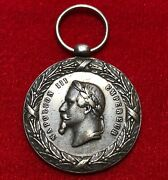 Napoleon Iii Expedition Of Mexico Medal1862-1863 Rare Type Silver
