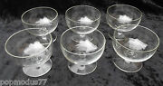 Jean Luce. Cups A Champagne Art Deco/modernist Crystal Sevres. French Line