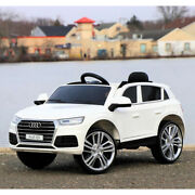 First Drive Audi Q5 Kids Electric Ride On Sport Car W/ Remote White For Parts