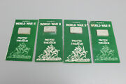 History Of World War Ii Pacific Theater Set Of 4 1oz Sterling Silver Bars