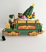 New Bright Holiday Express Tree Top Tender Animated Train Car Power G Scale
