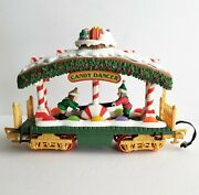 New Bright Holiday Express Candy Dancer Animated Santa's Elves Train Car G Scale
