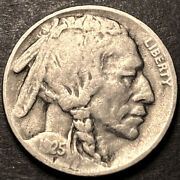 1925 S/s Buffalo Nickel 5c Key Date Rpm Mint Error Nice Condition Type Coin