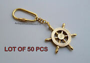 Antique Solid Brass Compass Key Chain Nautical Key Ring Lot Of 50 Pcs Best Gift