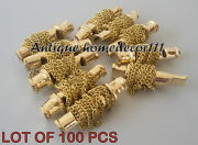 Lot Of 100 Pcs Nautical Maritime Vintage Solid Brass Necklace Whistle Key Chain