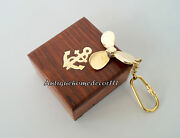 Lot Of 10 Pcs Vintage Nautical Brass Propeller Fan Key Chain With Wooden Box ...
