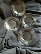 Heisey Glass 4 Bread And Butter Plates Diana Etching - Very Rare