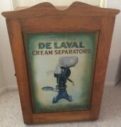 Vintage Delaval Cabinet With Parts And Books