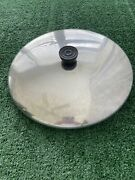 Vintage Revere Ware 12 Lid Replacement Sauce Pan Skillet Grilling Frying S.s.