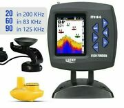 Color Screen Boat Fish Finder Dual Frequency Wired Wireless Water Depth Boat