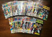 Captain America 340-400+ 1988-94 Lot No Keys G/vg Condition 55 Issues