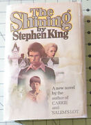 The Shining By Stephen King True 1st/1st Hardcover W/jacket R49 Gutter Code