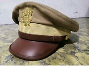 Ww2 Usaaf Us Army Officers Uniform Visor Hat Crusher Style Cap All Size