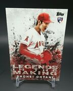 2018 Topps Legends In The Making Litm-21 Shohei Ohtani Rc Angels Rookie Card