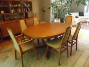 Danish Modern Teak Dining Room Table 68-108 Interform Collection Table Only