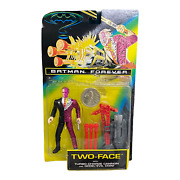 Vintage 1995 Kenner Batman Forever Two-face W/ Cannon And Coin Action Figure
