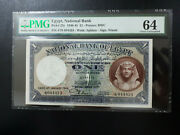 Egypt 1 Pound 1944 Pmg Choice Uncirculated 64good Embossing