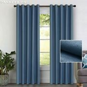 Faux Linen Blackout Curtains Bedroom Curtains Living Room Window Blinds Drapes