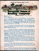 1920 - Savannah Fence And Roofing Co - Georgia Color Vintage Letter Head Rare