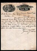 Canon City Co 1900 Ophir - Doctor Gold Mine Superb Letter Head Mining History
