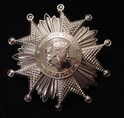 French Legion Of Honor National Order Grand Officerand039s Star 900 Silver Plated