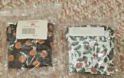 Two Longaberger Small Purse/basket Liners - Holly 208427 And Pumpkin 2084280