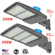 200w 300w Led Parking Lot Light With Dusk To Dawn Photocell Flood Lights