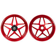 Mos Forged Aluminum Alloy Wheels Rims For Ducati Panigale V4 2018 - 2021 Red