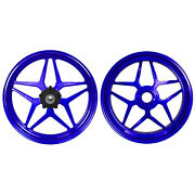 Mos Forged Aluminum Alloy Wheels Rims For Ducati Panigale V4 2018 - 2021 Blue