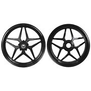 Mos Forged Aluminum Alloy Wheels Rims For Ducati Panigale V4 2018 - 2021 Black