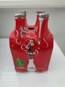 Vintage Christmas Coke Cola Bottles 4 Pack Rare And Collectable
