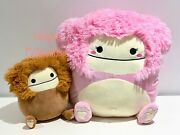 Squishmallows Benny 8 And Brina 16 Bigfoot Bundle Brand New Rare And Hard To Find