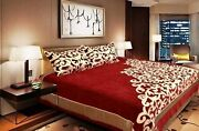 Design Bedding Set Double Bedsheet With 2 Pillow Cover King Size Chenille 500 Tc