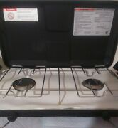 Brinkmann Two Burner Propane Camp Stove Model 842-a100-w Complete Working