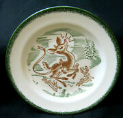 Old Montgomery Ward Rudolph The Red Nosed Reindeer 7 1/4 Dia.plate