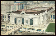 1 Cent Stamp 1913 Postmark The New Grand Central Depot 42nd Street Ny Train