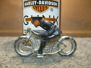 Vintage Harley 1930's Barclay Lead Motorcycle Police Toy Pre Ww2 Made In Usa