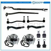 12pcs Fits 2003-2005 Ford Excursion 4wd Wheel Bearing Hub Tie Rod Ball Joint