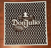 New Authentic Don Julio Tequila Bar Spill Mat 16.5andrdquox16.5andrdquo Blue And Black