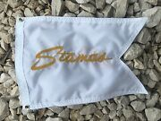 Stamas Boat White 12x18 Embroidered Flag