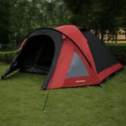 North Gear Camping 4 Man Blackout Waterproof Tent Red