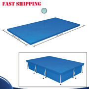 Bestway 10ft6ft.9in Durable Pe Pool Cover For Rectangular Above Ground Pools