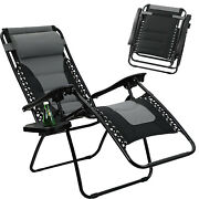 Folding Zero Gravity Chair Recliner Patio Pool Lounge Chairs Adjustable Outdoor