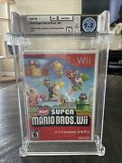 New Sealed Nintendo Wii Game New Super Mario Bros. Wii Wata Graded 9.2 A