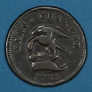 1733 Isle Of Man Penny Coin Vf Km 5