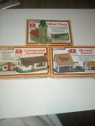 Life-like N Scale Easy To Assemble Building Kits Lot Of 3